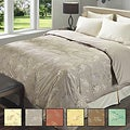Luxury-sized Asian-print 330-thread-count Baffle-box Down Comforter