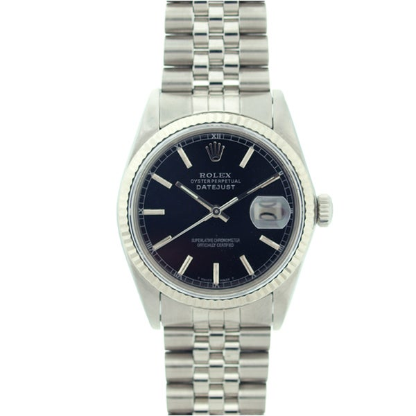 pre owned rolex s datejust stainless steel white gold