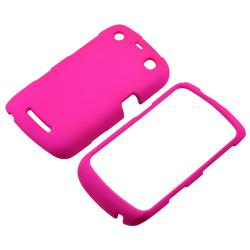 Hot Pink Rubber Coated Case for BlackBerry Curve 9350/ 9360/ 9370