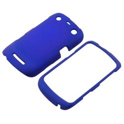 Blue Snap-on Rubber Coated Case for BlackBerry Curve 9350/ 9360/ 9370