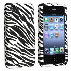 White/ Black Zebra Snap-on Case for Apple iPhone 4/ 4S