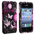 Butterfly Snap-on Rubber Coated Case for Apple iPhone 4/ 4S