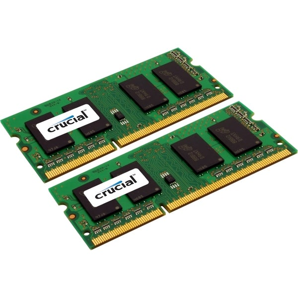 Crucial 8GB Kit (4GBx2), 204-pin SODIMM, DDR3 PC3-10600 Memory Module