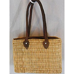 Natural Straw Shoulder Bag (Morocco)
