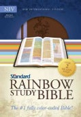 Standard Rainbow Study Bible: New International Version, Brown / Lavender, Duotone, Bold Line Edition (Paperback)