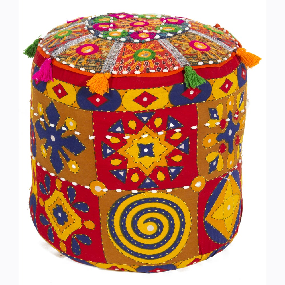 Artist's Loom Traditional Indian Poufs (Set of 2)