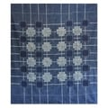 Batik Cotton 'Indigo Cross' Bedspread (Thailand)