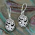 Sterling Silver 'Petite Karangasem Castle' Earrings (Indonesia)