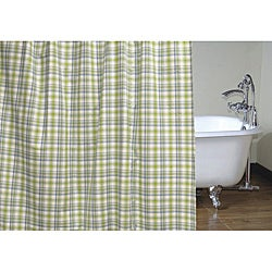 Cottage Home 72-inch Blue/Green Plaid Shower Curtain