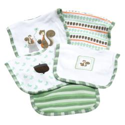 Piccolo Bambino Green Cotton Bib (Set of 5)