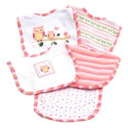 Piccolo Bambino Pink Cotton Bib (Set of 5)