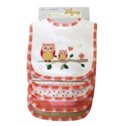 Piccolo Bambino Pink Cotton Bib (Set of 5)