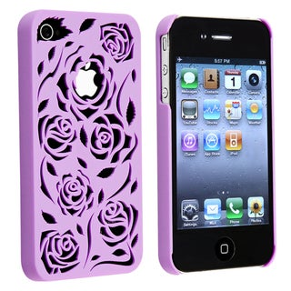 Dark Purple Rose Rear Snap-on Case for Apple iPhone 4S