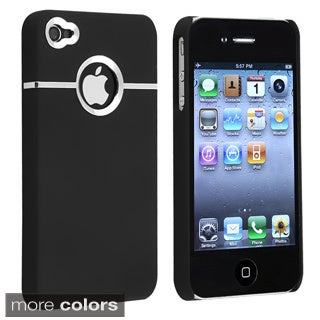 Chrome Hole Rear Rubber Coated Case for Apple iPhone 4/ 4S