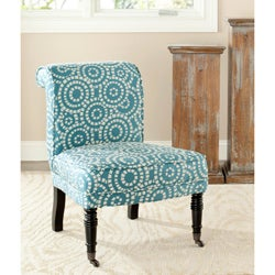 Safavieh Mosaic Blue/ White Polyester Fabric Chair
