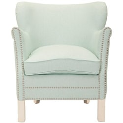 Safavieh Posh Robins Egg Blue Arm Chair