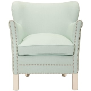 "Safavieh Posh Robins Egg Blue Arm Chair - 26.6"" x 28.9"" x 29.3"""