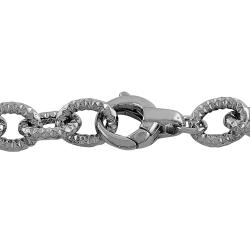 Fremada Rhodiumplated Sterling Silver Diamond-cut Cable Link Bracelet