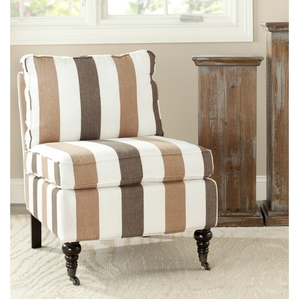 Safavieh Bosio Stripe Armless Club Chair