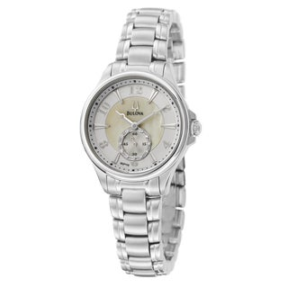 Bulova Women&#39;s Stainless Steel Round Watch