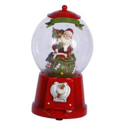 Santa Gumball Machine Figurine