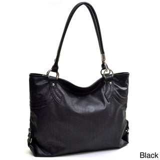 Dasein Two-tone Faux Leather Tote Bag