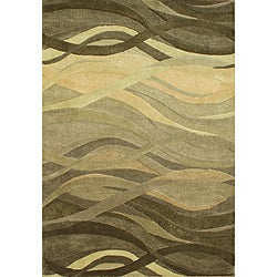 Alliyah Handmade New Zeeland Blend Classic Green Wool Area Rug (8' x 10')