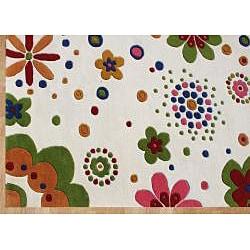 Alliyah Handmade Cream New Zealand Blend Wool Rug (4' x 6')