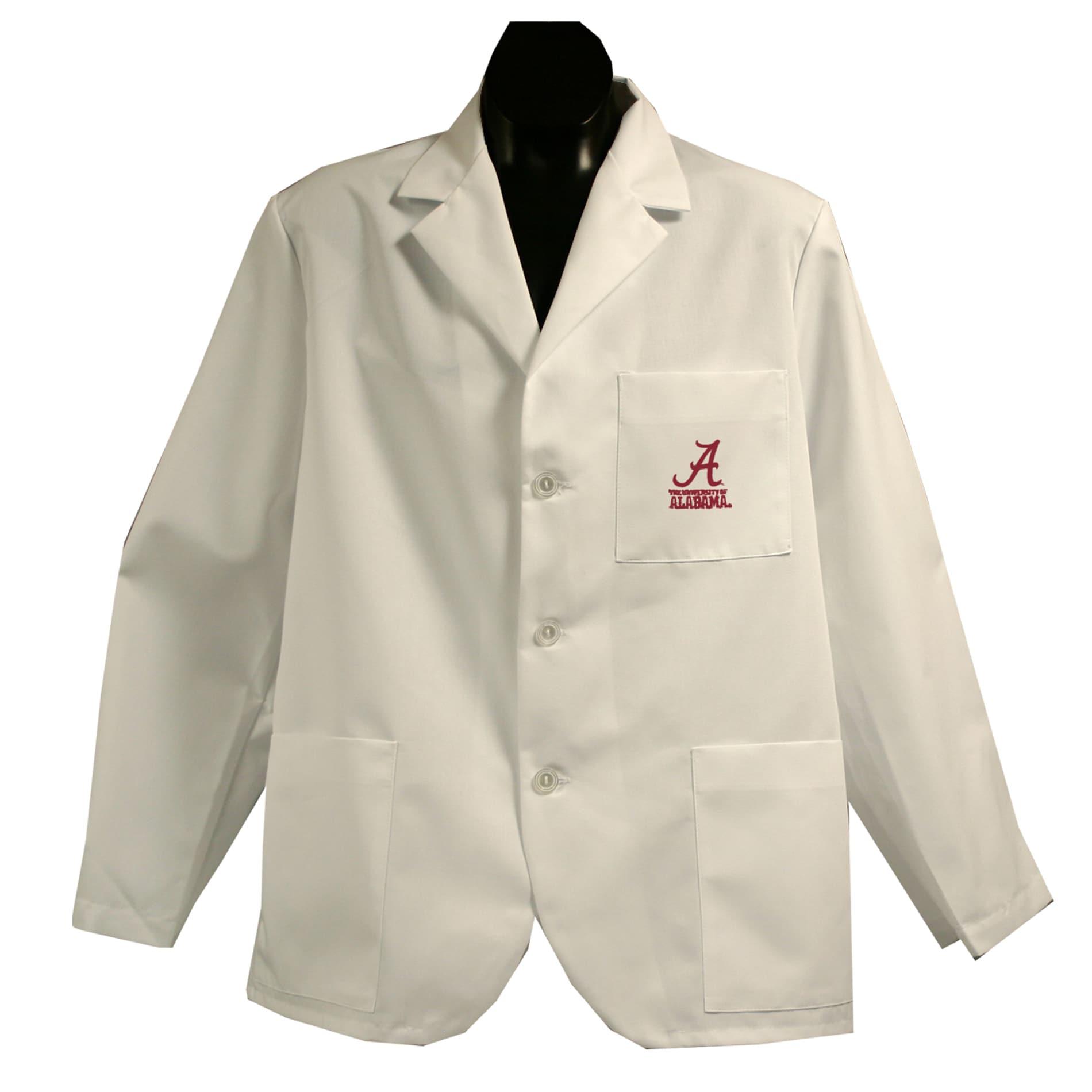 Gelscrubs Machine-Washable Unisex NCAA Alabama Crimson Tide Short Labcoat