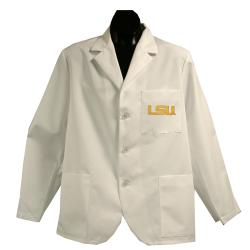 Gelscrubs Unisex NCAA LSU Tigers Short Labcoat