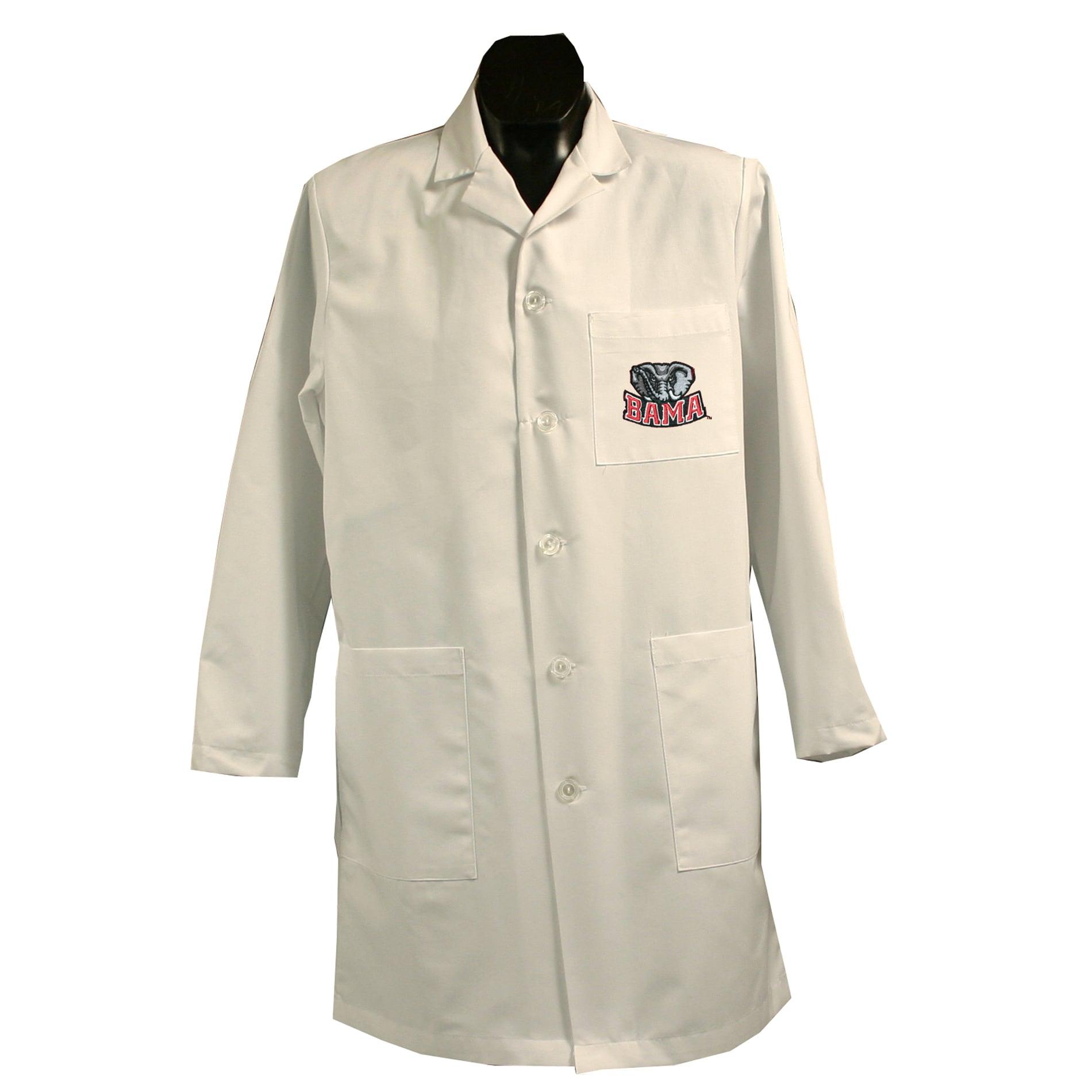 Gelscrubs Unisex NCAA Alabama Crimson Tide Long Labcoat