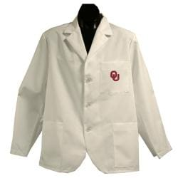 Gelscrubs Unisex Oklahoma Sooners Short Labcoat