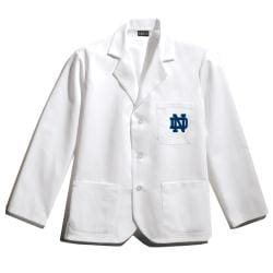 Gelscrubs Unisex NCAA Notre Dame Fighting Irish Wrinkle-Free Short Labcoat