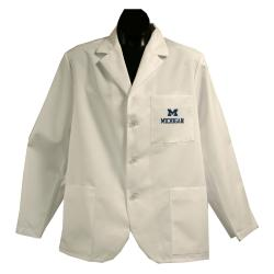Gelscrubs Unisex NCAA Michigan Wolverines Short Labcoat