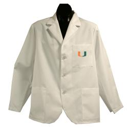 Gelscrubs Unisex NCAA Miami Hurricanes Short Labcoat