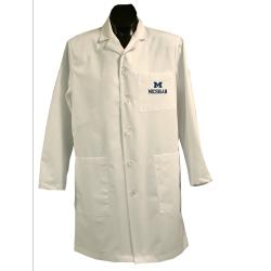 Gelscrubs Unisex NCAA Michigan Wolverines Long Labcoat