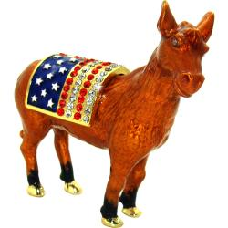 Objet d'Art 'Nast's Donkey' Democrat Icon Trinket Box