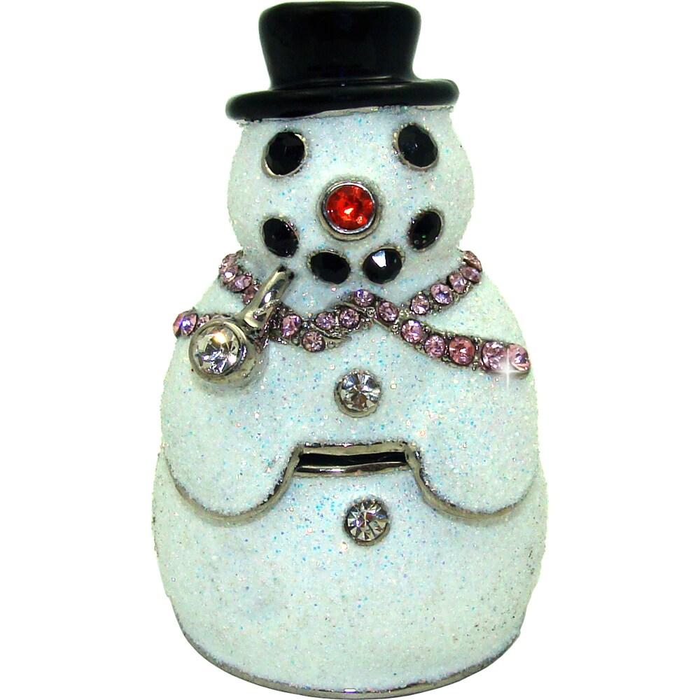 Objet d'Art 'Blizzard the Snowman' Trinket Box