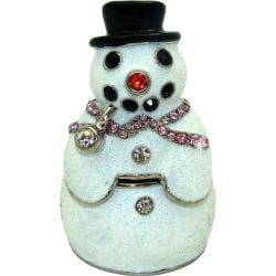 Objet d'Art 'Blizzard the Snowman'  Trinket Box