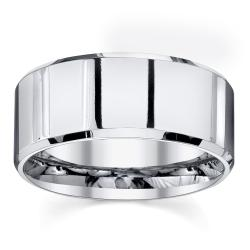 Cobalt High Polish and Beveled Edge 10-mm Band