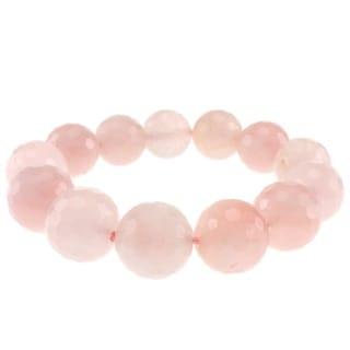 Pearlz Ocean Rose Quartz Bead Stretch Bracelet