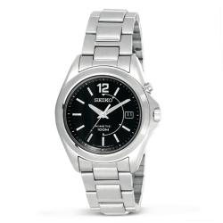 Seiko Men's Stainless Steel Kinetic Watch