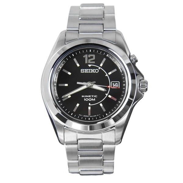 Seiko SKA477 Men's Stainless Steel Kinetic Watch