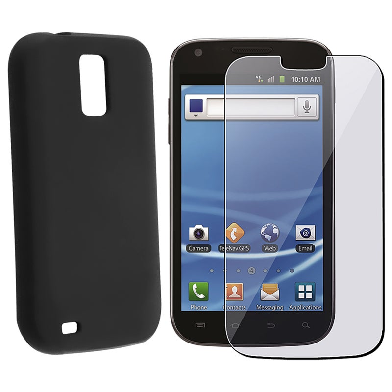 INSTEN Black Skin Case Cover/ Screen Protector for Samsung Galaxy S2 Hercules T989
