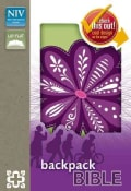 Holy Bible: New International Version Purple Blossom Italian Duo-Tone Backpack Bible (Paperback)
