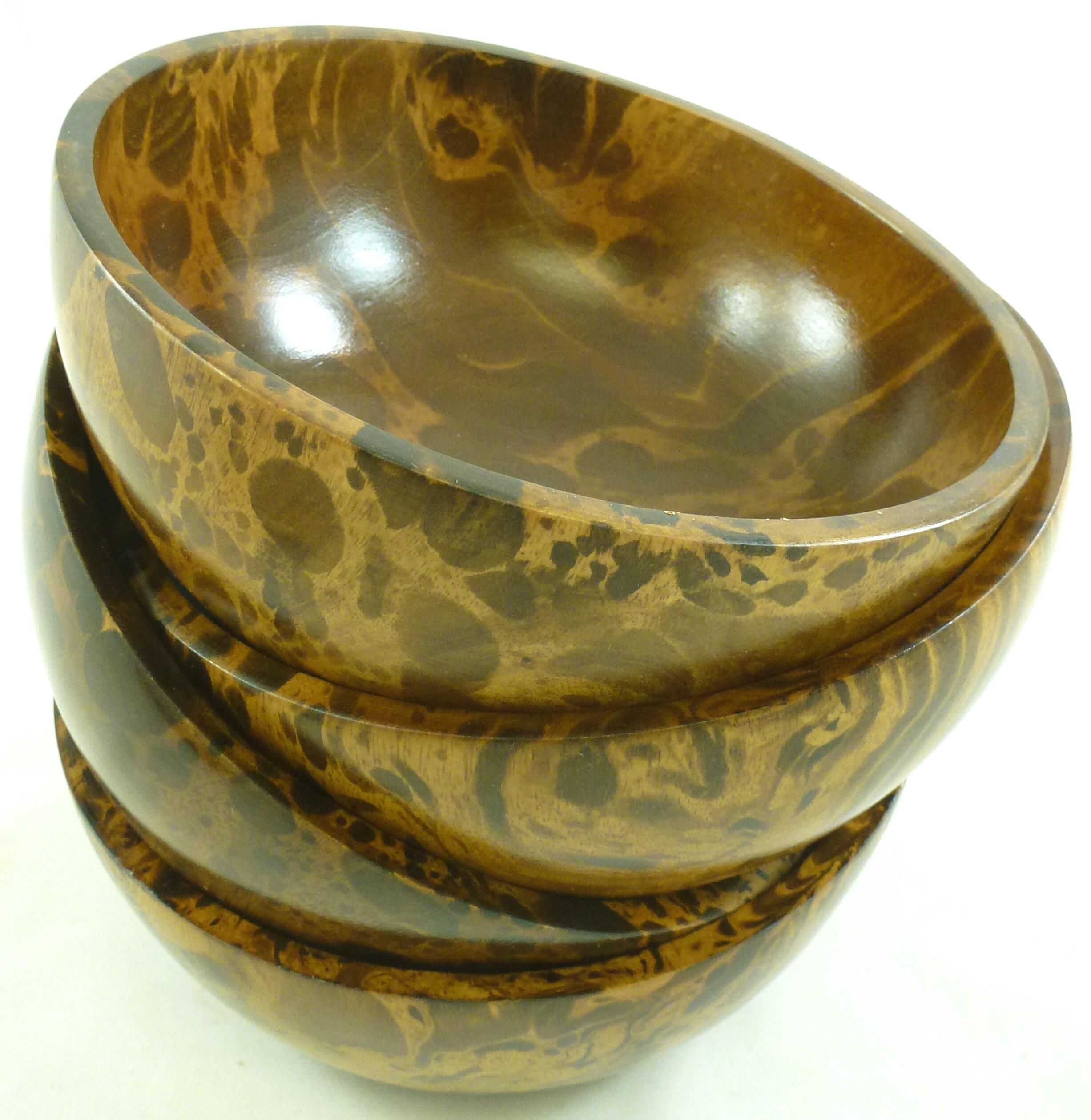 Mango Wood 4-piece Individual Bowl Set (Thailand)
