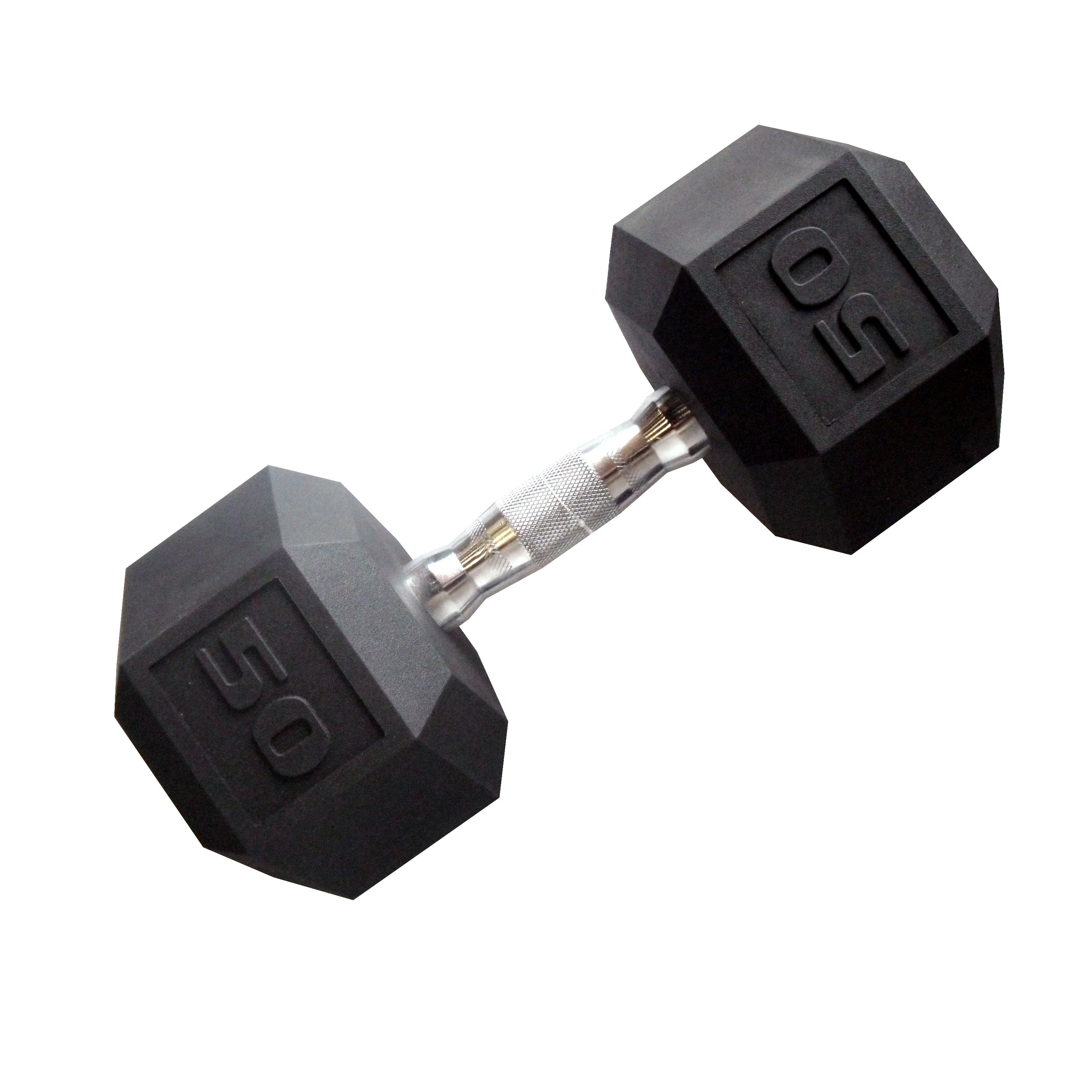 CAP Barbell 50 lb Coated Hex Dumbbell