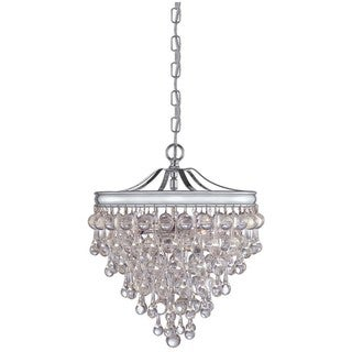 Crystorama Chloe Polished Chrome 3-light Pendant