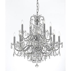 Crystorama Imperial Chrome 12-light Crystal Chandelier