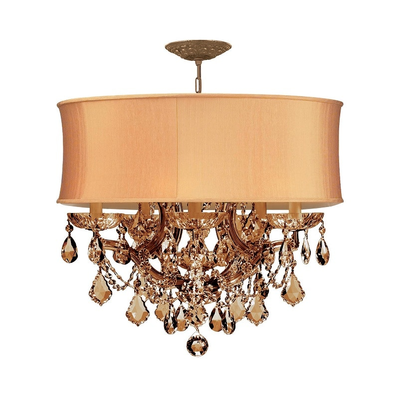 Crystorama Brentwood Antique Brass 5-light Chandelier